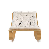 New Baby Rocker LEVO with Rose in April Fawn Cushion in Walnut or Beech