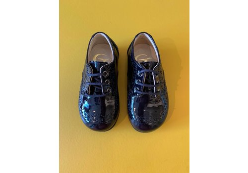 Gallucci Lace-up lacquer dark navy shoes