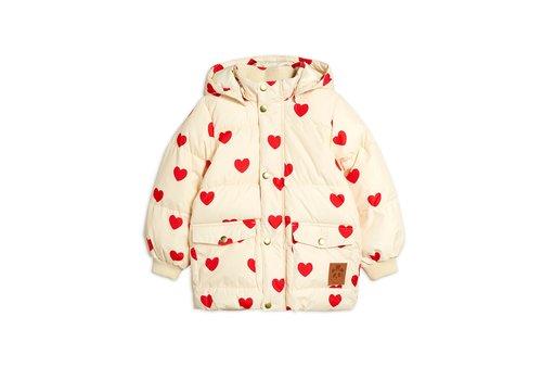 Mini Rodini Hearts pico puffer jacket Offwhite