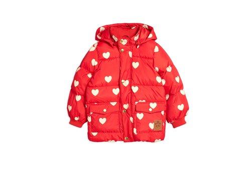 Mini Rodini Hearts pico puffer jacket Red