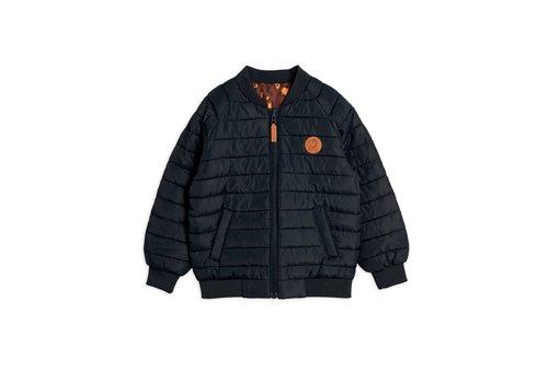 Mini Rodini Leopard insulator jacket Black