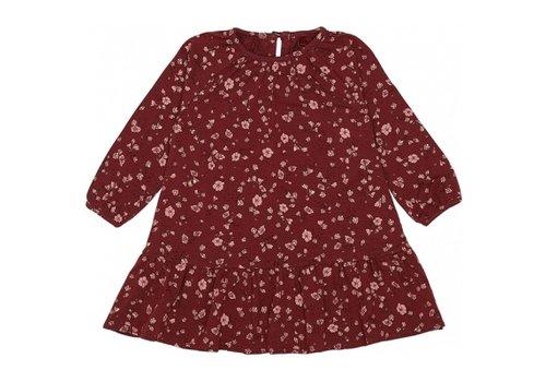 Soft Gallery Alma Dress Oxblood Red, AOP Flowery S