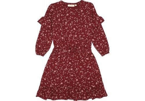 Soft Gallery Gail Dress Oxblood Red, AOP Flowery S