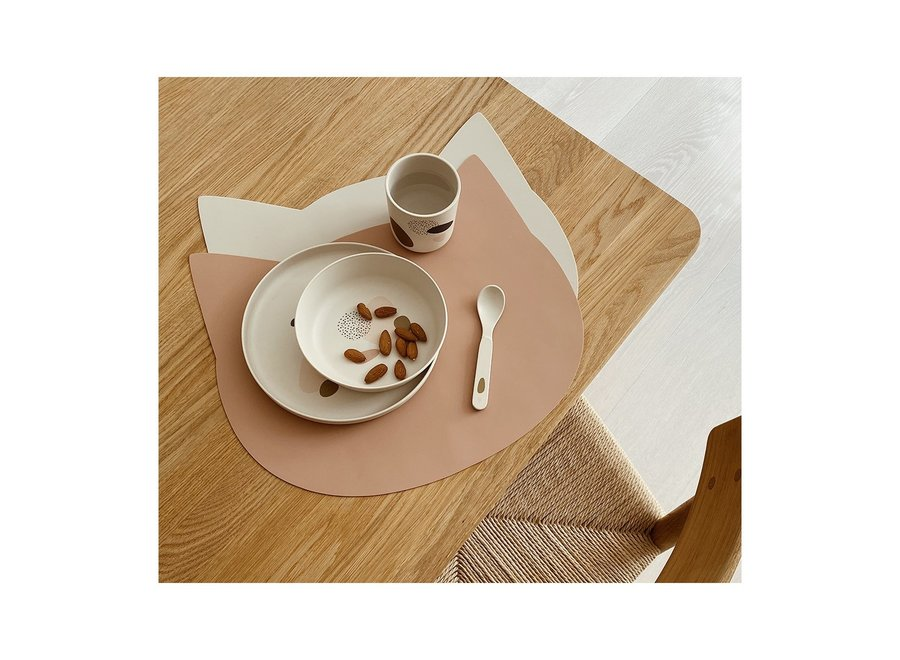 Gada Placemat 2 Pack  Cat dark rose