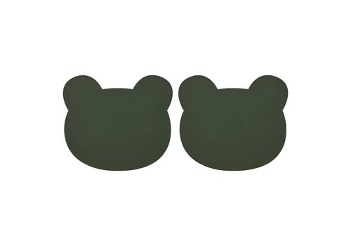 Liewood Gada Placemat 2 Pack - Mr bear hunter green