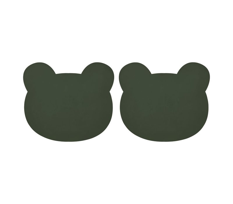 Gada Placemat 2 Pack - Mr bear hunter green