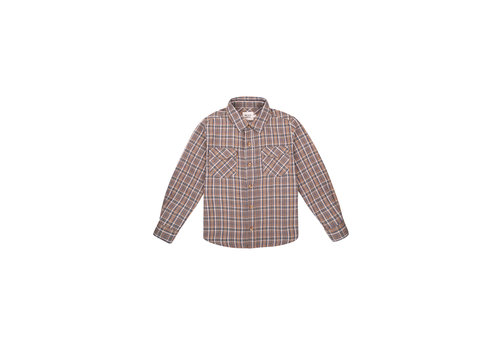 The New Society MILOSH SHIRT CHECK SOFT BLUE
