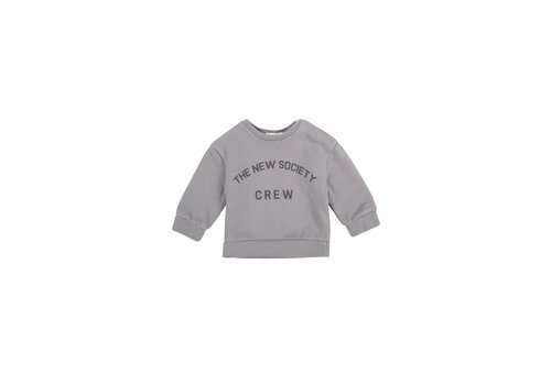 The New Society THE NEW SOCIETY CREW BABY SWEATER SOFT BLUE