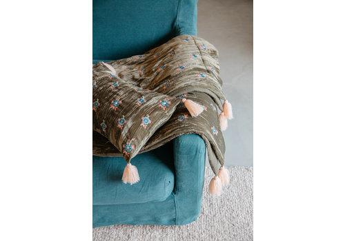 Louise Misha Pillow Matty Olive Velvet