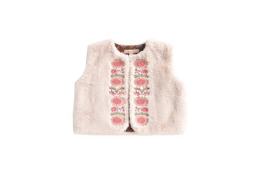 Louise Misha Vest Bianca Cream