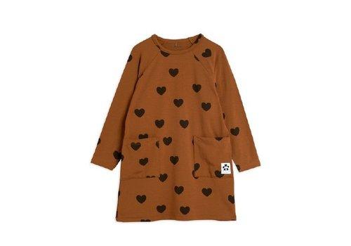 Mini Rodini Hearts ls dress TENCEL™ Brown