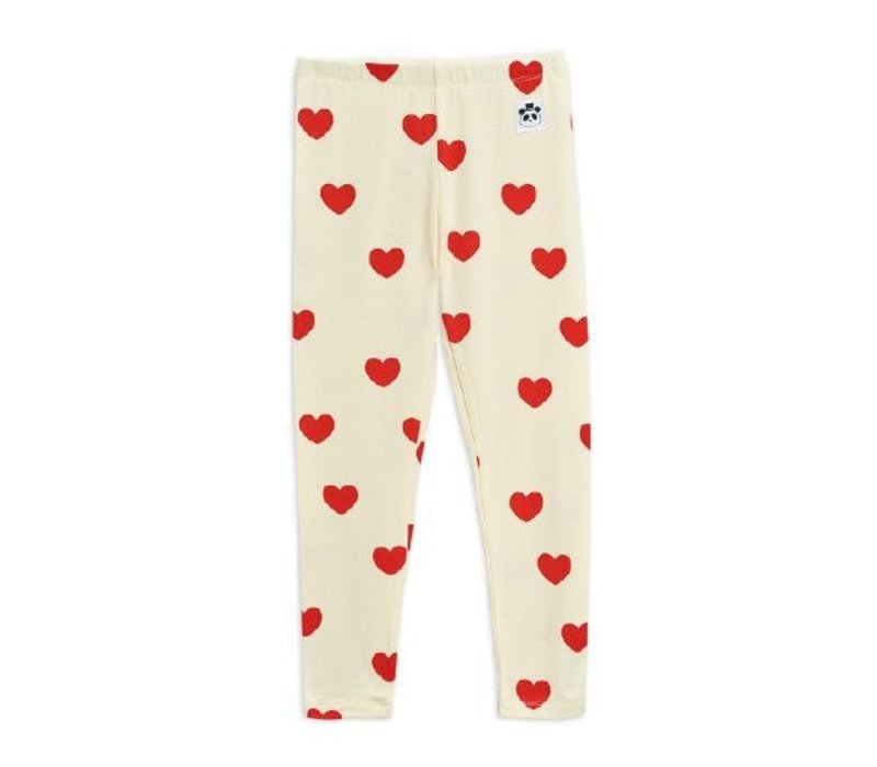 Hearts leggings TENCEL™ Offwhite