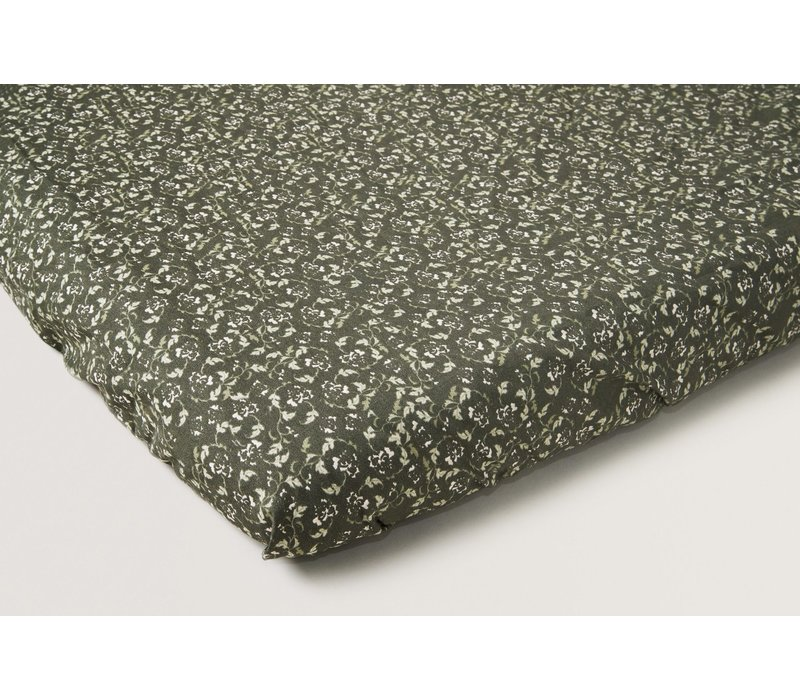 Floral Moss Changing Mat Cover