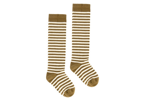 Gray Label Long Ribbed Socks Peanut/Cream