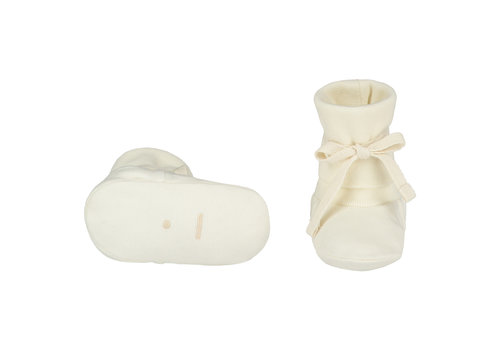Gray Label Baby Ribbed Booties Cream