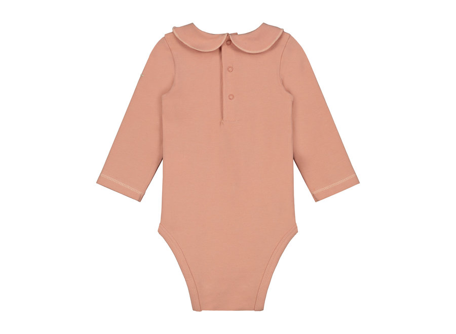 Baby Collar Onesie Rustic Clay