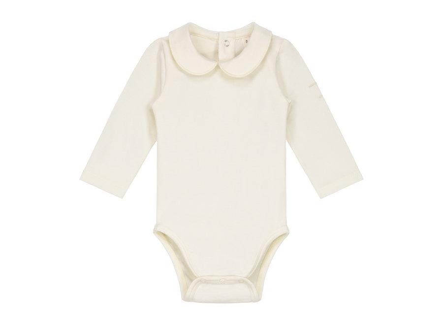 Baby Collar Onesie Cream