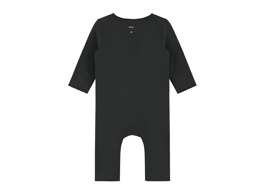Baby Suit with Snaps Nearly Black