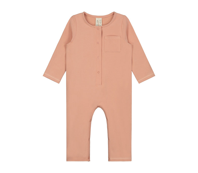 Baby L/S Playsuit Rustic Clay