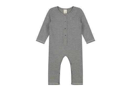 Gray Label Baby L/S Playsuit Nearly Black/Cream
