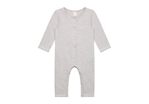 Gray Label Baby L/S Playsuit Grey Melange/Cream