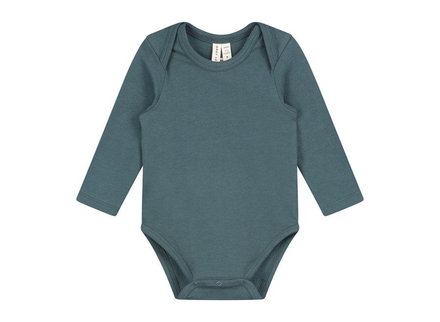 Baby L/S Onesie Blue Grey