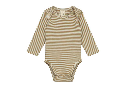 Gray Label Baby L/S Onesie Peanut/Cream