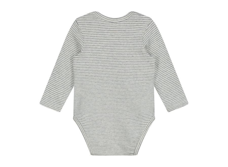 Baby L/S Onesie Grey Melange/Cream