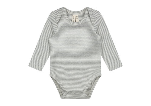 Gray Label Baby L/S Onesie Grey Melange/Cream