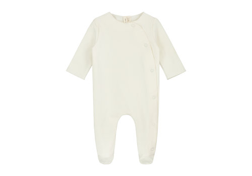 Gray Label Newborn Suit with Snaps Cream