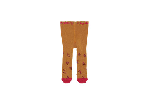 Soft Gallery MP Baby Girl Tights Thai Curry, AOP Rosehips