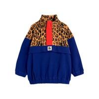 Fleece zip pullover Beige