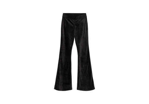 Designers Remix Girls Frances Flare Velour jersey flared pants Black