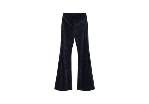Designers Remix Girls Frances Flare Velour jersey flared pants Navy