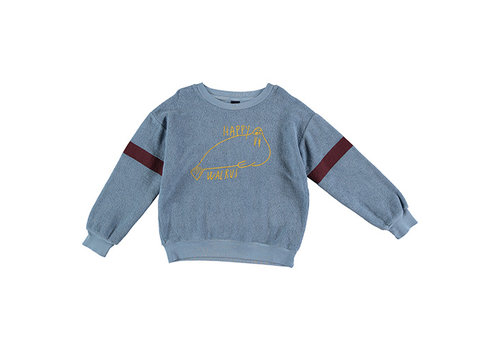 Bonmot organic Sweatshirt walrus Arctic blue