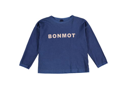 Bonmot organic T-shirt bonmot Sea blue