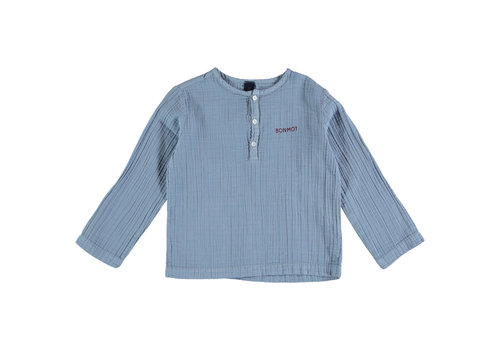 Bonmot organic Shirt bonmot Arctic blue