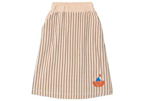 Bonmot organic Skirt velvet all over stripes Fog