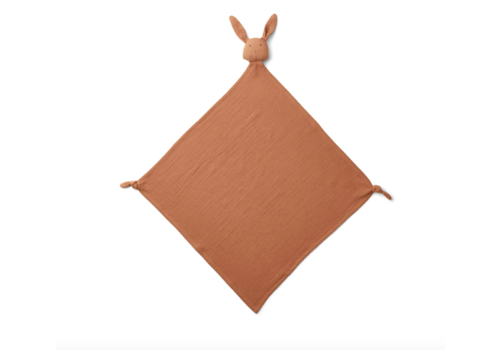 Liewood Robbie multi muslin cloth Rabbit terracotta