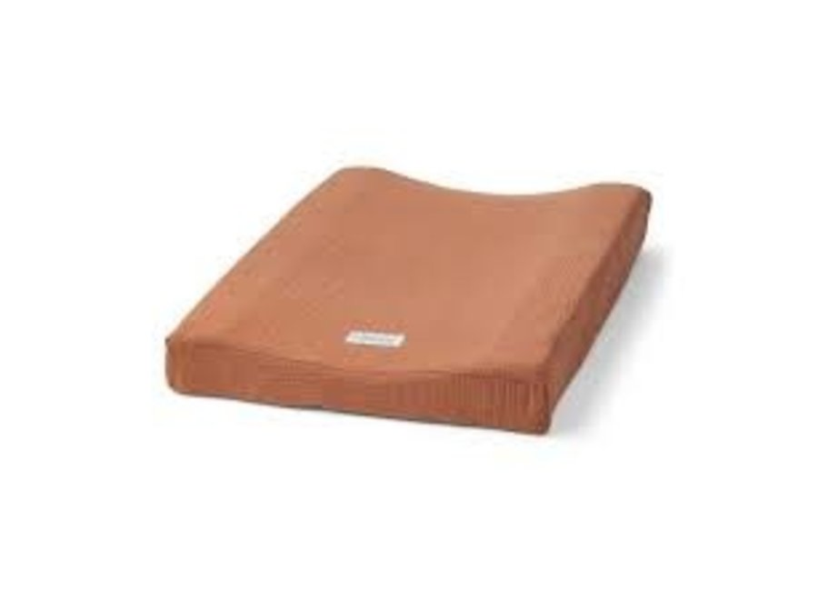 Cliff muslin changing mat cover Terracotta