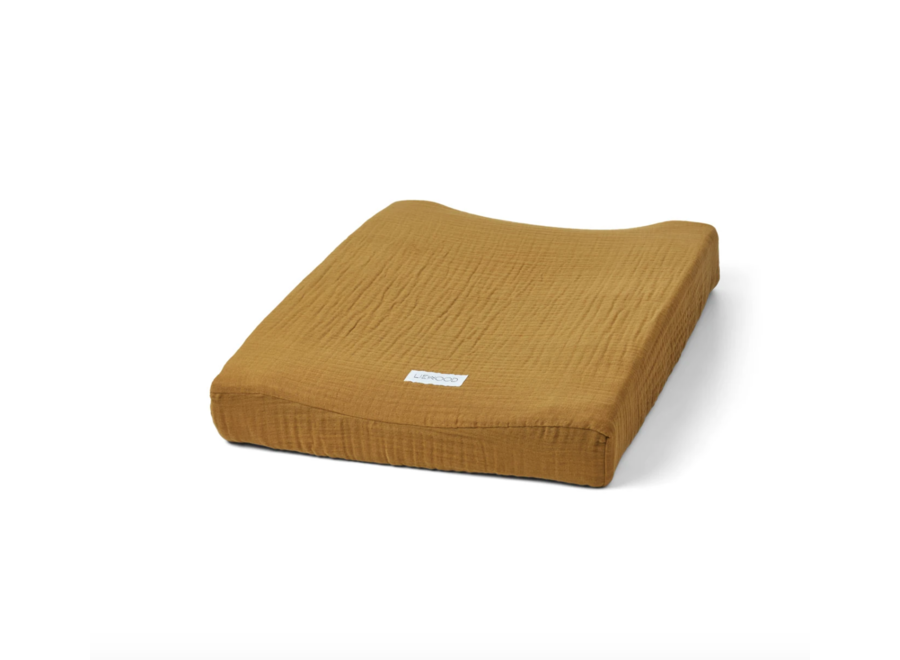 Cliff muslin changing mat cover Olive green