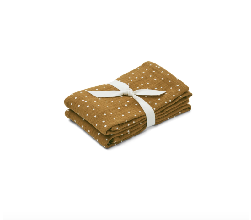 Lewis muslin cloth 2-pack Confetti olive