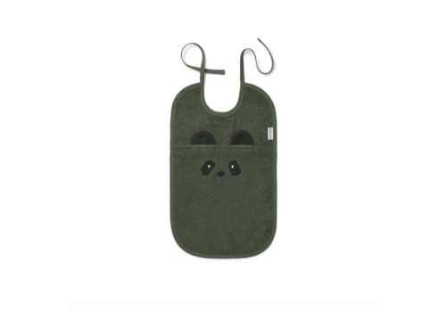 Liewood Theo terry bib Panda hunter green