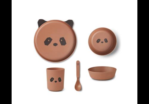 Liewood Bamboo box set Panda tuscany rose