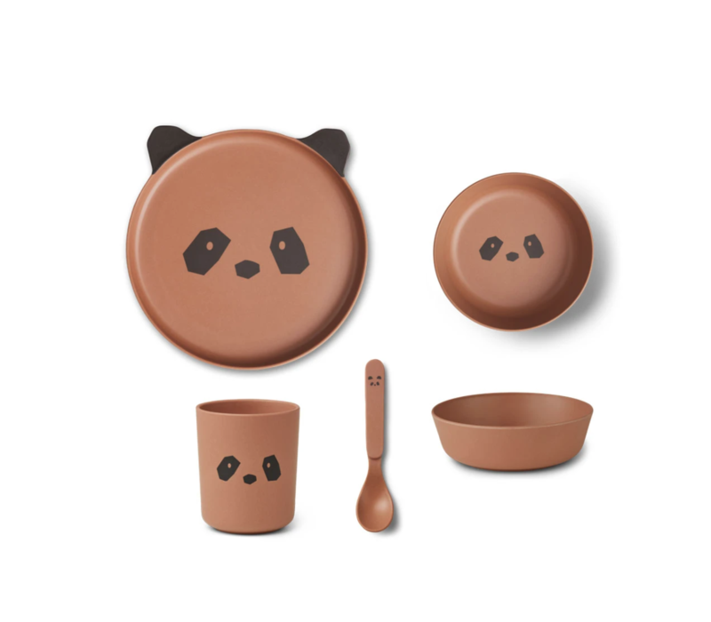 Bamboo box set Panda tuscany rose