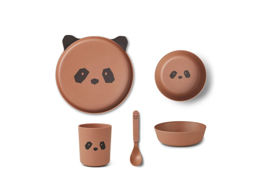 Bamboo box set Panda tuscany rose