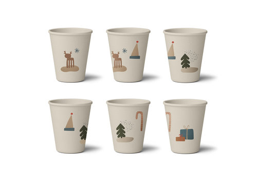 Liewood Gertrud bamboo cup 6-pack Holiday mix