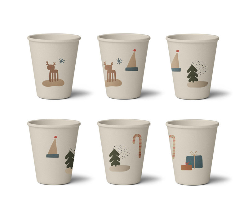 Gertrud bamboo cup 6-pack Holiday mix