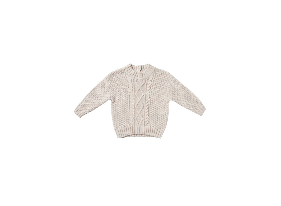 Cable Knit Sweater Pebble