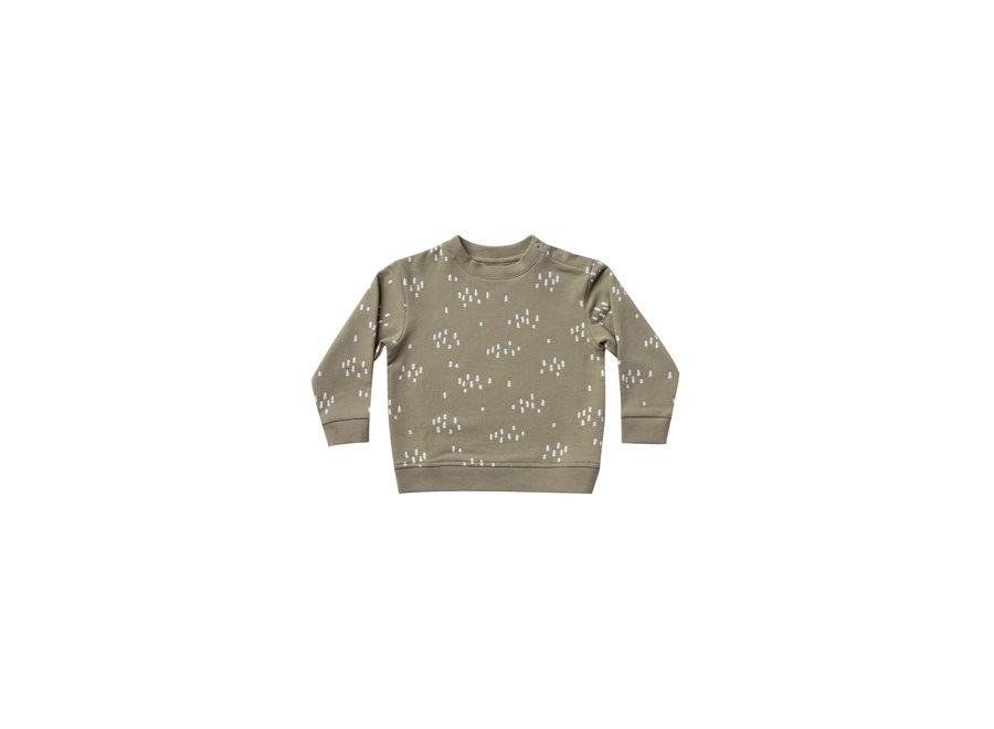 Fleece Basic Sweatshirt Olive